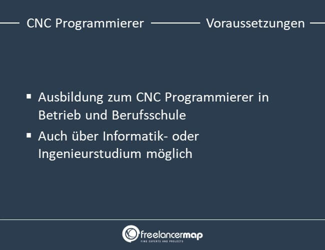 Voraussetzungen, die ein CNC Programmierer mitbringen muss