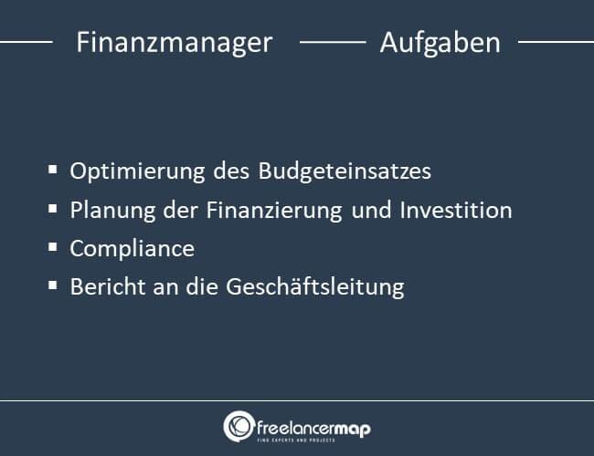 Zu den Aufgaben zählt die Optimierung und Planung der Gelder, Compliance einahlten und Berichte erstellen.