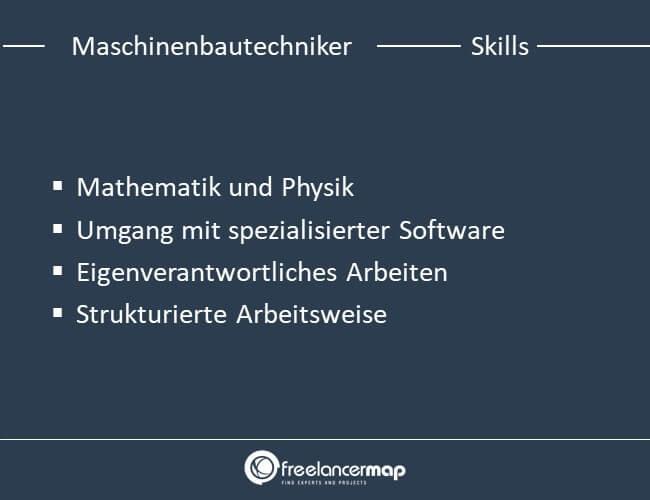 Die Skills eines Maschinenbautechnikers