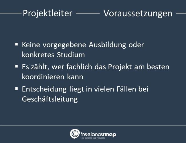 Projektleiter-voraussetzungen