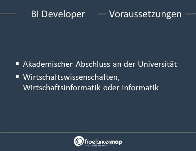 Voraussetzungen um BI Developer zu werden