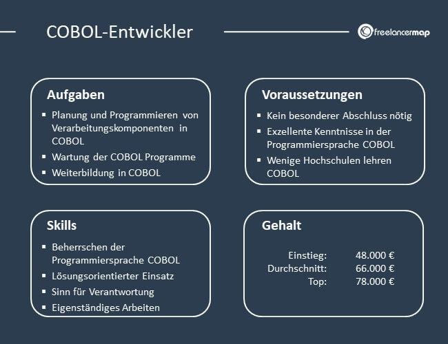 Übersicht über Aufgaben, Voraussetzungen, Skills und Gehalt eines COBOL-Entwicklers