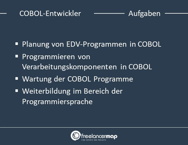 Aufgaben eines COBOL-Entwicklers.