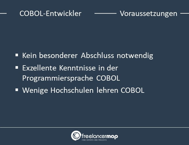 Voraussetzungen um COBOL-Entwickler zu werden