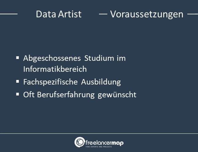 Voraussetzungen um Data Artist zu werden