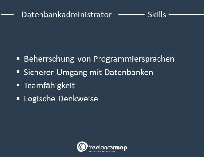 Skills eines Datenbankadministrators