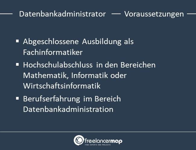 Voraussetzungen um Datenbankadministrator zu werden