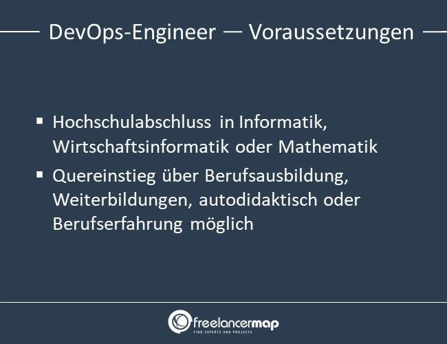 Voraussetzungen um DevOps-Engineer zu werden.