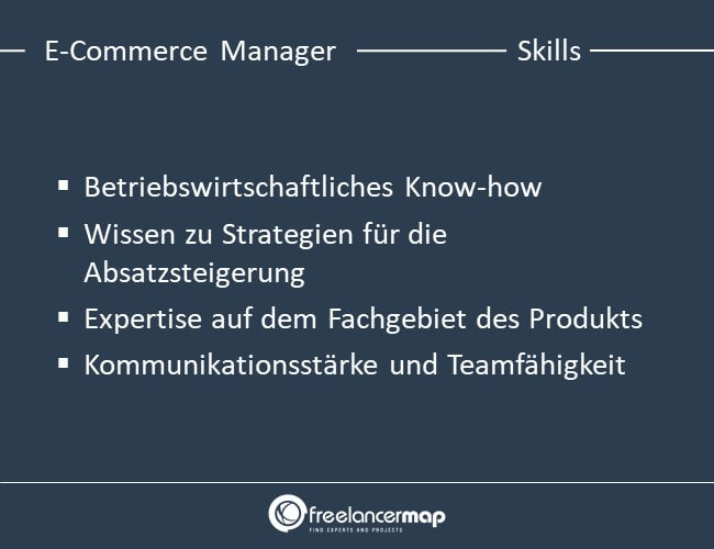 Skills eines E-Commerce Managers.