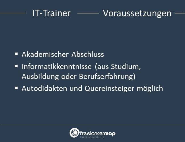Voraussetzungen um IT-Trainer zu werden