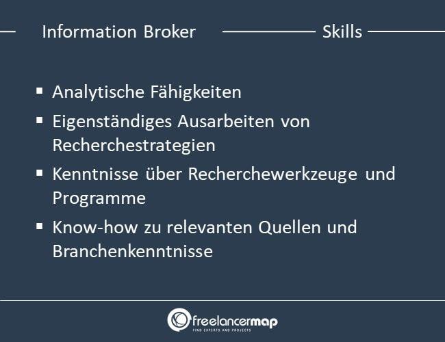 Skills eines Information Brokers
