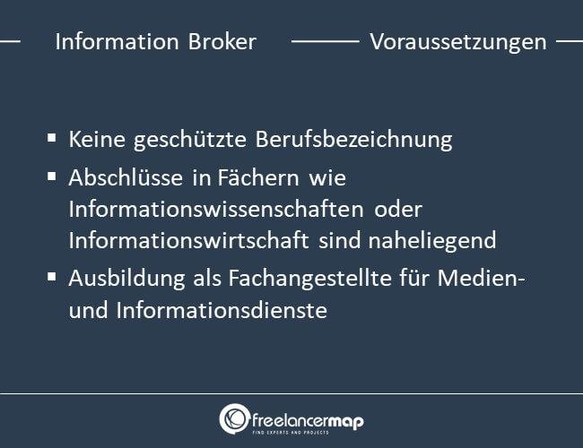Voraussetzungen um Information Broker zu werden