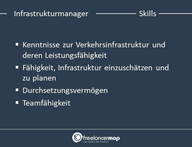 Skills eines Infrastrukturmanagers