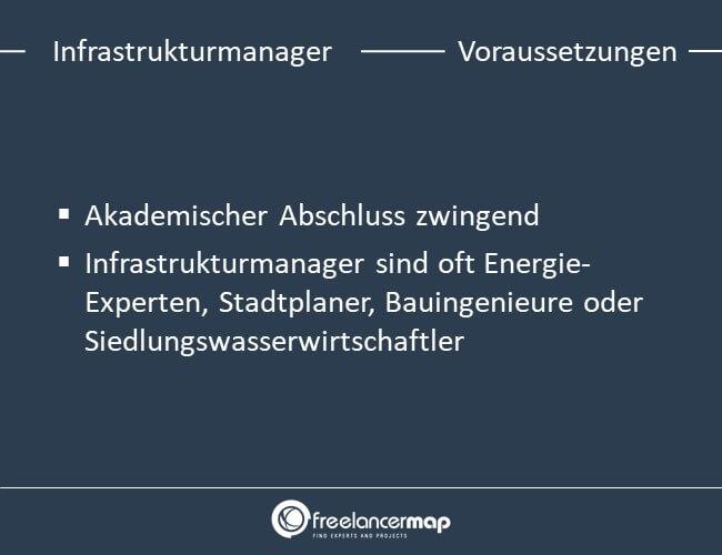 Voraussetzungen um Infrastrukturmanager zu werden