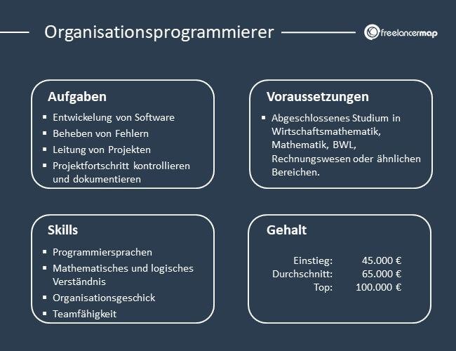 Übersicht über Aufgaben, Voraussetzungen, Skills und Gehalt eines Organisationsprogrammierers
