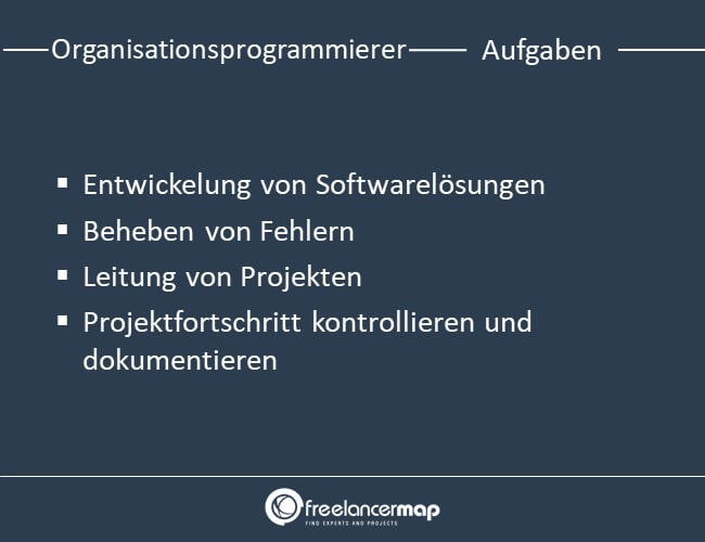 Aufgaben eines Organisationsprogrammierers