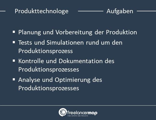 Aufgaben eines Produkttechnologen
