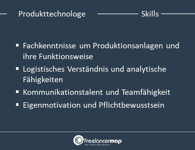 Skills eines Produkttechnologen