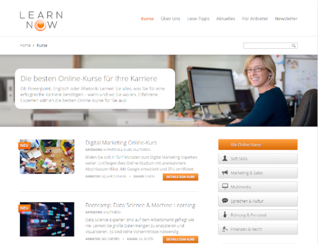 Learnnow E-Learning Plattform