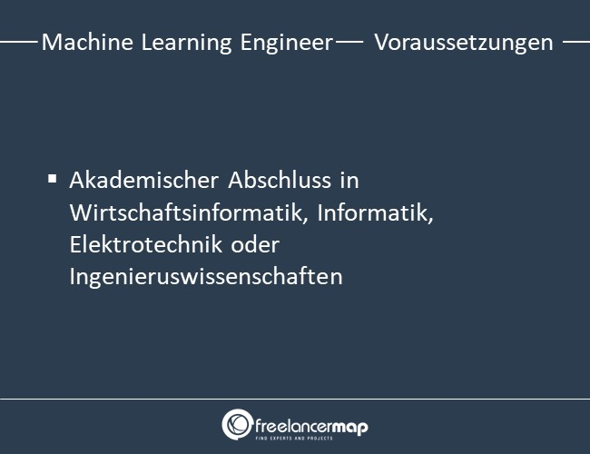 Voraussetzungen, um Machine Learning Engineer zu werden.