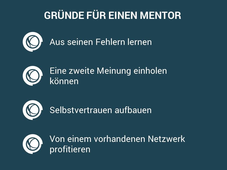 Vier Gründe, die für einen Mentor sprechen.