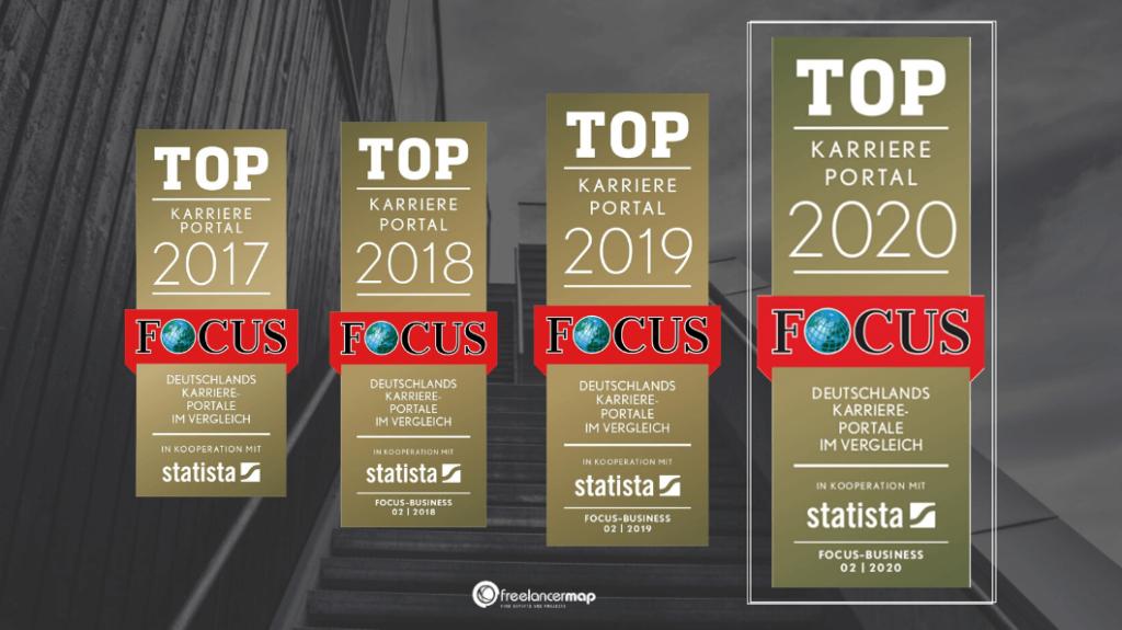freelancermap ist zum vierten Mal in Folge zu Deutschlands Top-Karriere-Portalen gekürt worden.