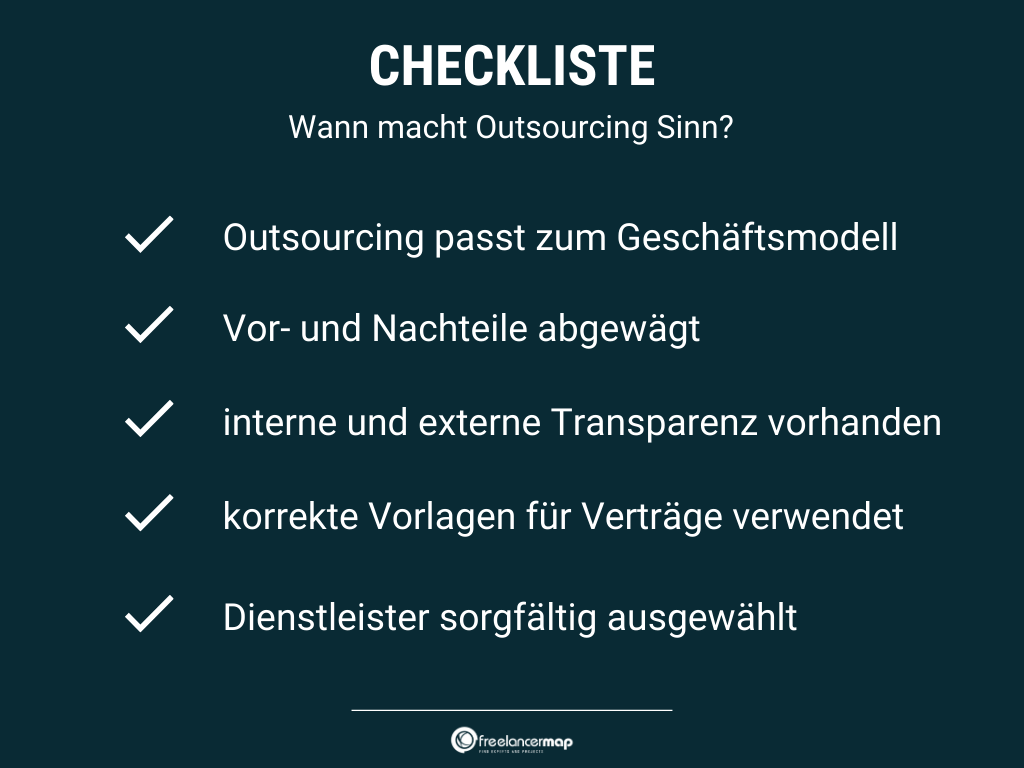 Wann lohnt sich Outsourcing?