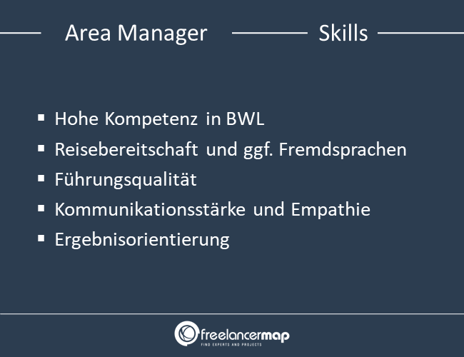 Skills eines Area Managers.
