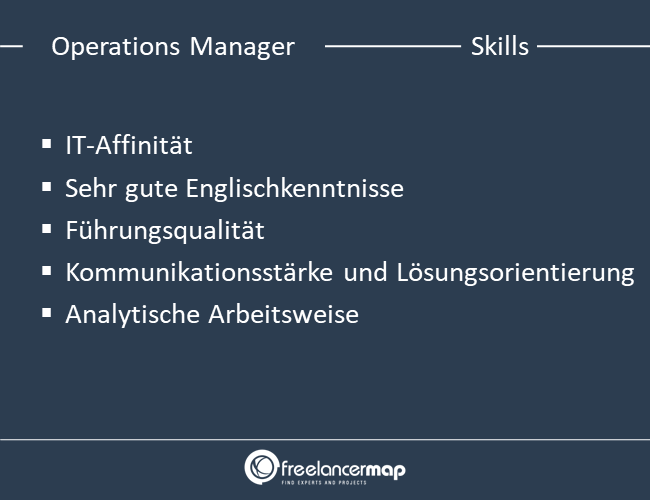 Skills eines Operations Managers.