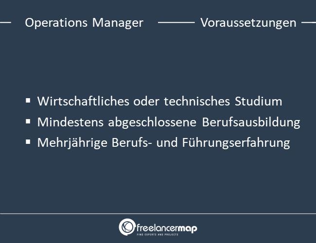 Voraussetzungen um Operations Manager zu werden.