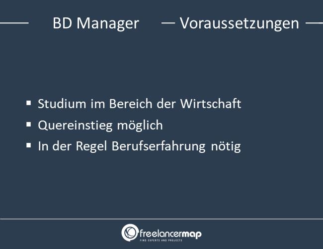 Voraussetzungen um Business Development Manager zu werden.