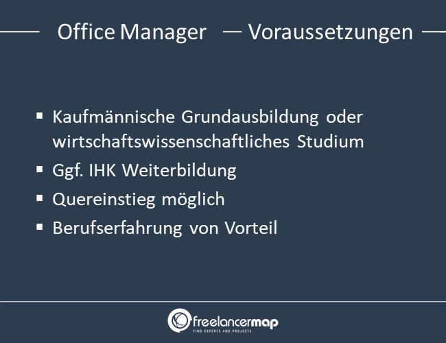 Voraussetzungen um Office Manager zu werden