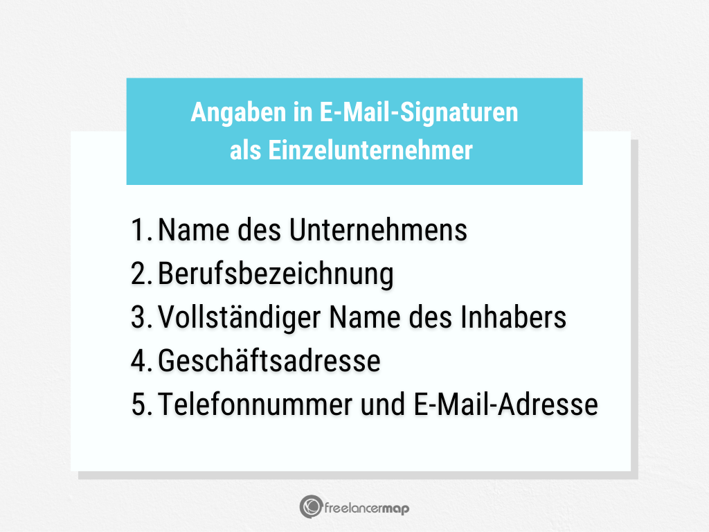 Welche Angaben sind in einer E-Mail-Signatur wichtig für Einzelunternehmer?