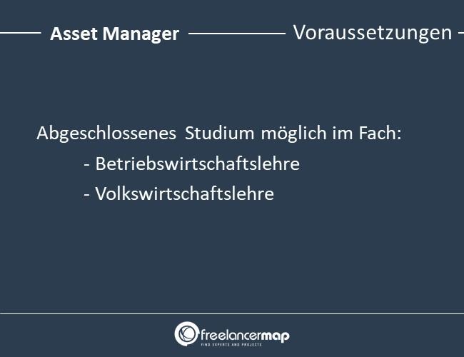 Asset-Manager-Voraussetzungen
