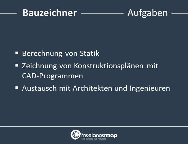 Aufgaben eines Bauzeichners.