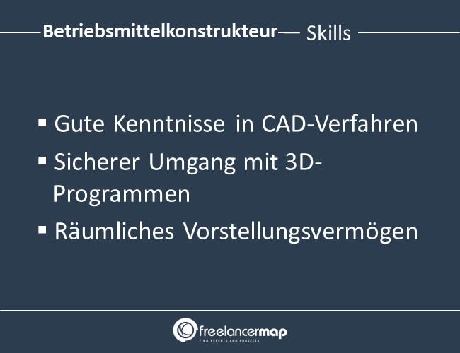 Betriebsmittelkonstrukteur-Skills