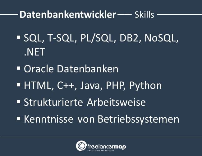 Datenbankentwickler-Skills