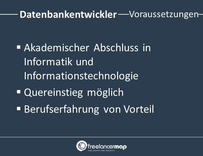 Datenbankentwickler-Voraussetzungen-Einstieg