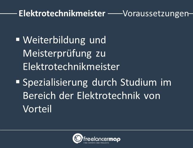 Elektrotechnikmeister-Voraussetzungen-Einstieg