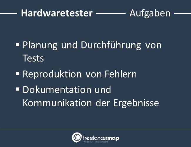 Hardwaretester-Aufgaben