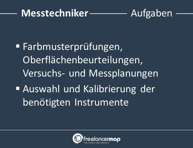 Messtechniker-Aufgaben