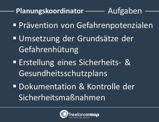 Planungskoordinator-Aufgaben