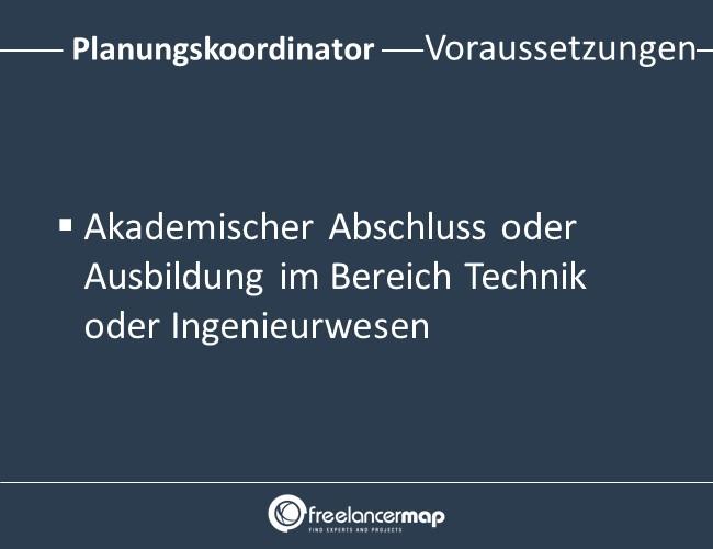 Planungskoordinator-Voraussetzungen-Einstieg