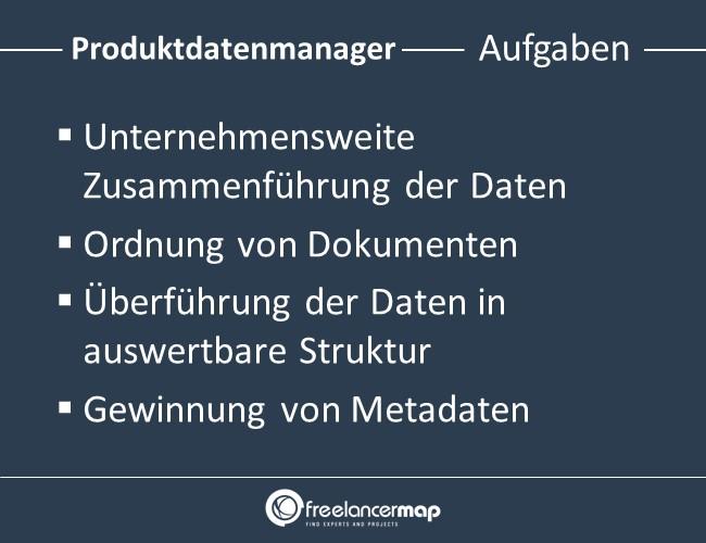 Produktdatenmanager-Aufgaben