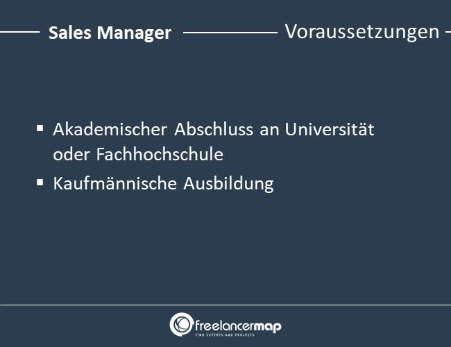 Sales-Manager-Voraussetzungen